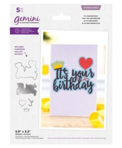 Gemini Expressions Die – It's Your Birthday