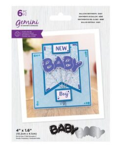Gemini Stamp & Die Balloon Sentiments - Baby