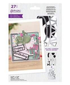 Gemini Stamp & Die Balloon Sentiments - Celebration Essentials