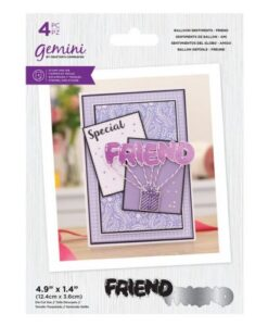 Gemini Stamp & Die Balloon Sentiments - Friend