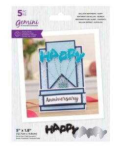 Gemini Stamp & Die Balloon Sentiments - Happy