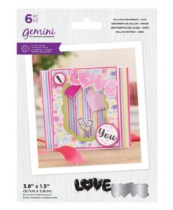 Gemini Stamp & Die Balloon Sentiments - Love