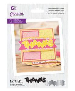 Gemini Stamp & Die Balloon Sentiments - Thanks