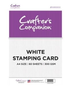 Crafter's Companion - White Stamping Card A4