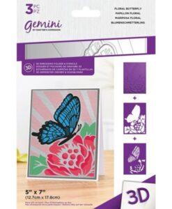 3D-Embossingfolder & Stencil - Floral Butterfly