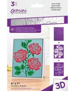 3D-Embossingfolder & Stencil - Lovely Roses