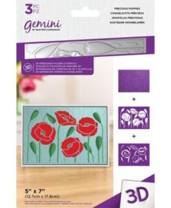 3D-Embossingfolder & Stencil - Precious Poppies