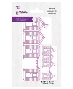 Gemini Best of British Beach Huts - Embossing Folder