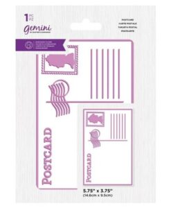 Gemini Best of British Postcard - Embossing Folder