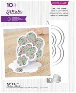 Create-A-Card - Triple Easel Flowers