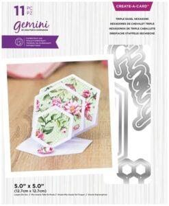 Create-A-Card - Triple Easel Hexagons