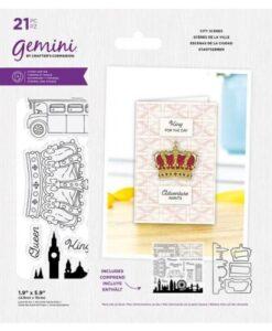 """Gemini Best of British City Scenes - Stamp & Die Verpakking bevat 21 stuks stempels en snijmallen Afmeting van de grootste snijmal is 1.9"""" x 5.9"""" (4.8cm x 15cm) Gemini Best of British City Scenes - Stamp & Die"""