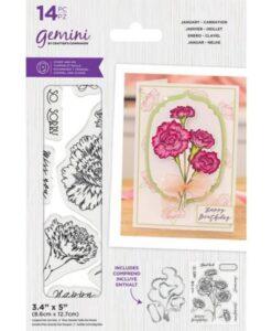 Gemini Stamp & Die - January - Carnation