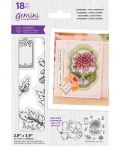 Gemini Stamp & Die - November - Chrysanthemum