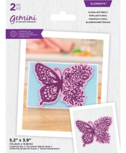 Gemini Elements - Floral Butterfly