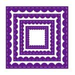 Inverted Stitched - Snijmal - Scallop Square