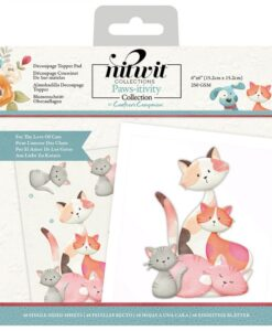 Nitwit Pawsitivity - Decoupage Topper - For the Love of Cats