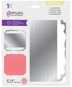 """Gemini snijmal - Dimensionals - 8"""" (20.3 cm) Album Spine"""