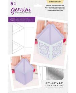 Gemini Dimensional Snijmal en Stencil - Country Cottage Favour Box