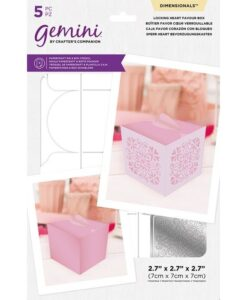 Dimensional snijmal en stencil - Locking Heart Favour Box