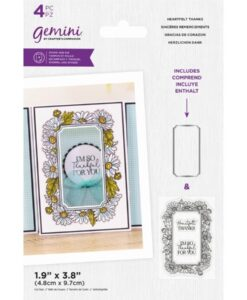 Stamp & Die Floral Frame - Heartfelt Thanks