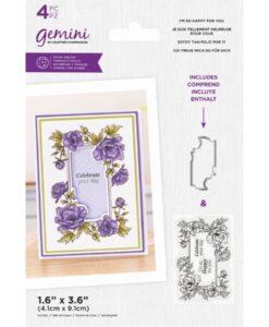 Stamp & Die Floral Frame - I'm so Happy For You
