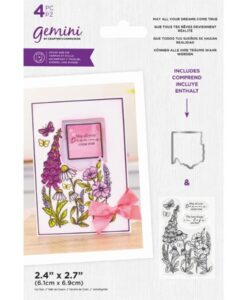 Stamp & Die Floral Frame - May All Your Dreams Come True