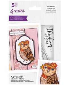 Stamp & Die- Illustrated Amimals - You're a Hoot