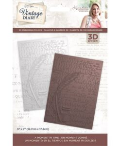 Vintage Diary - 3D Embossingfolder A Moment In Time