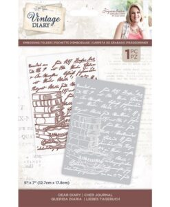 Vintage Diary - Embossingfolder Dear Diary