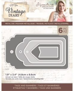Vintage Diary - Snijmal - Tags and Banners
