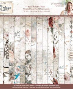 Vintage Diary - Paperpad 30 x 30 cm