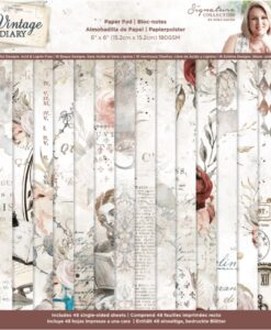 Vintage Diary - Paperpad 15 x 15 cm
