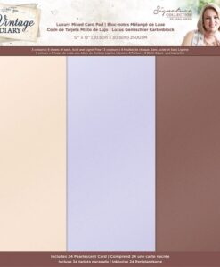 Vintage Diary - Luxury Pearl Pad 30 x 30 cm