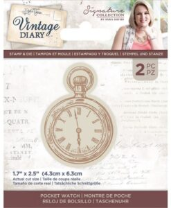 Vintage Diary - Stamp & Die - Pocket Watch