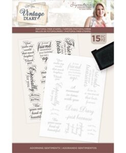 Vintage Diary - Clearstamp - Adorning Sentiments