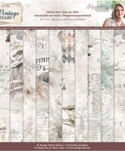 Vintage Diary - Vellumpad 30 cm x 30 cm