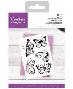 CC- Clearstamp – Butterflies in Flight