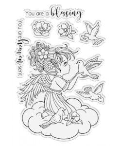 Conie Fong Angel Inspiration Stamp & Die - Angel Messenger