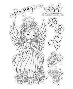 Conie Fong Angel Inspiration Stamp & Die - Angel Prayers