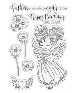 Conie Fong Angel Inspiration Stamp & Die - Angel Wishes