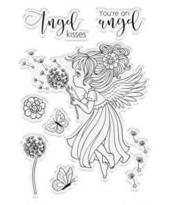 Conie Fong Angel Inspiration Stamp & Die - Angel Whispers