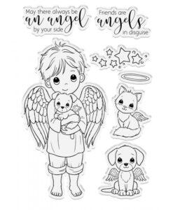 Conie Fong Angel Inspiration Stamp & Die - Friendship Angel