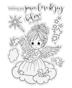 Conie Fong Angel Inspiration Stamp & Die - Twinkle Angel