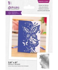 Create-a-Card Scene Edge - Elegant Butterflies