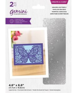 Delicate Create-a-Card Snijmal - Graceful Butterfly
