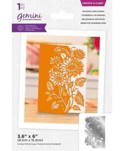 Create-a-Card Scene Edge - Splendid Sunflowers