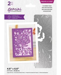 Delicate Create-a-Card Snijmal - Statement Rose