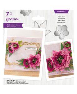 Gemini Elements – Pretty Peony – Flower Foam Die
