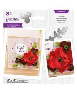 Gemini Elements – Wild Poppy – Flower Foam Die